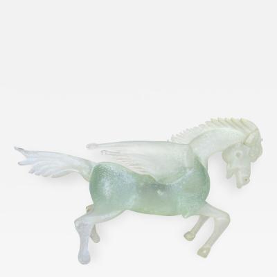 Cenedese Murano Glass Pegasus Horse Sculpture