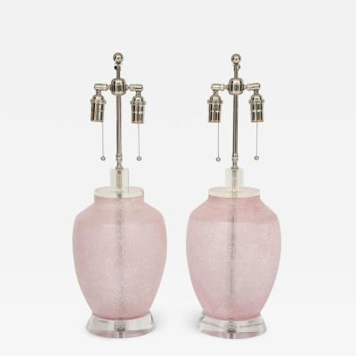 Cenedese Pair of 1960s Murano Glass Lamps by Cenedese