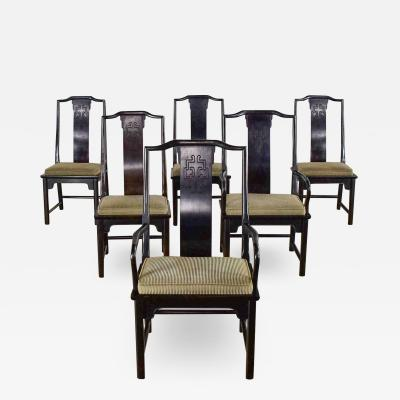 Century Furniture Chin hua dining chairs set six 4 side 2 armchairs by raymond k sobota