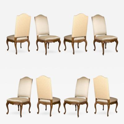 Century Furniture Eight Barcelona Style Dining Side Chairs