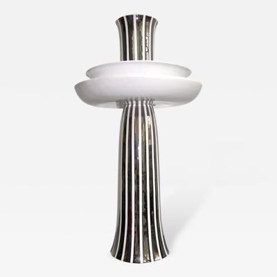Ceramica Gatti Ceramica Gatti Unusual Centerpiece Decorated with Pure Platinum