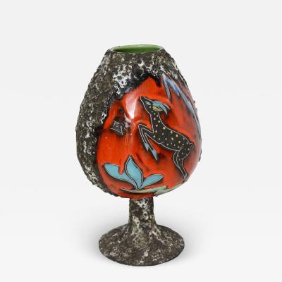 Ceramiche Pugi 1960s Pugi Signed French Ceramic Chalice