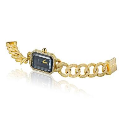 Chanel CHANEL 18K YELLOW GOLD PREMIER DIAMOND BLACK DIAL WATCH