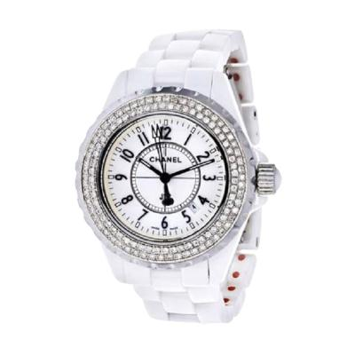 Chanel CHANEL STAINLESS STEEL 38MM J12 AUTOMATIC WHITE CERAMIC WATCH
