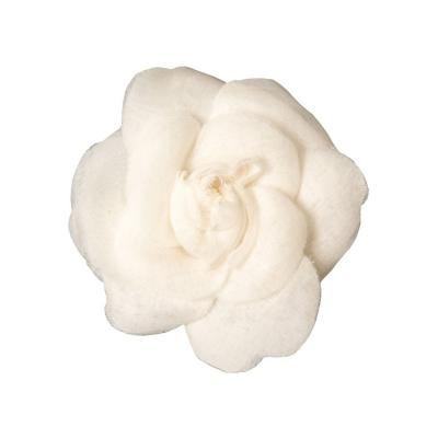 Chanel Vintage Chanel White Camellia Brooch