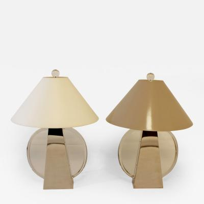 Chapman Manufacturing Company Pair of Signed Aurora Table Lamps by Chapman
