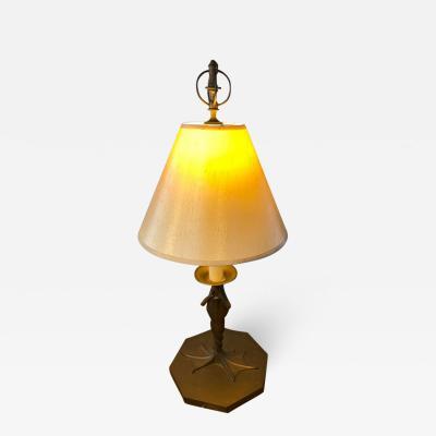 Chapman Mfg Co MODERNIST BRONZE FROG LAMP BY CHAPMAN