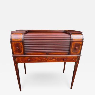 Charak Furniture Company Rare Hepplewhite Revival Mixing Table Desk Charak Furniture Co