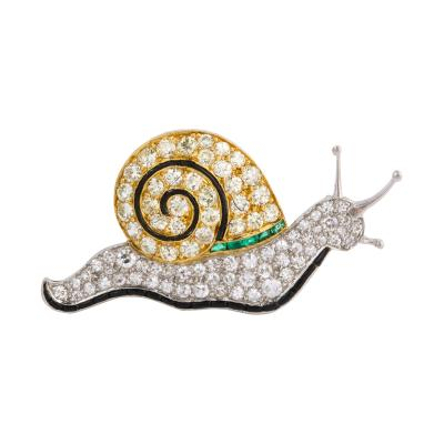 Charlton Co 1920s Snail Brooch by Charlton Co
