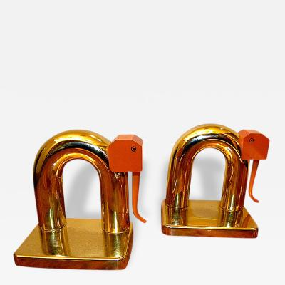 Chase Brass and Copper Company Elephant Bookends by Walter Von Nessen