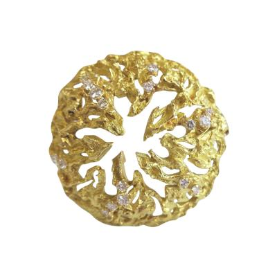 Chaumet Chaumet Gold and Diamond Pendant Brooch 1970s