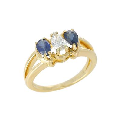 Chaumet Chaumet Paris Sapphire and Diamond Ring 18 Karat Yellow Gold