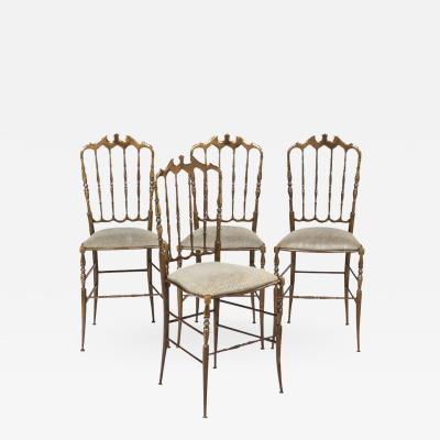 Chiavari Four Vintage Brass Chiavari Chairs