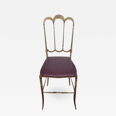 Chiavari Italian Brass Side Chair by Chiavari