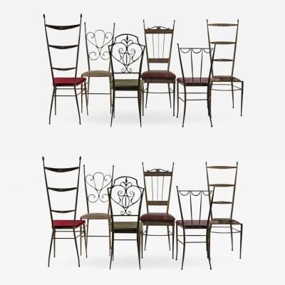 Chiavari Outstanding Set of 12 Chiavari Brass Chairs