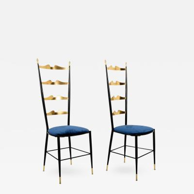 Chiavari Pair of Chiavari Italian Chairs