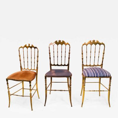 Chiavari Set of Three Stylish Italian Chairs by Chiavari