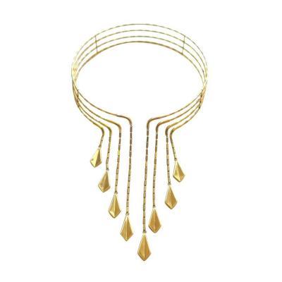 Chimento Chimento Gold Choker Necklace circa 1990