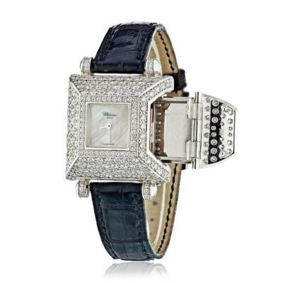 Chopard CHOPARD 18K WHITE GOLD CLASSIQUE FEMME SECRET COMPARTMENT DIAMOND WATCH