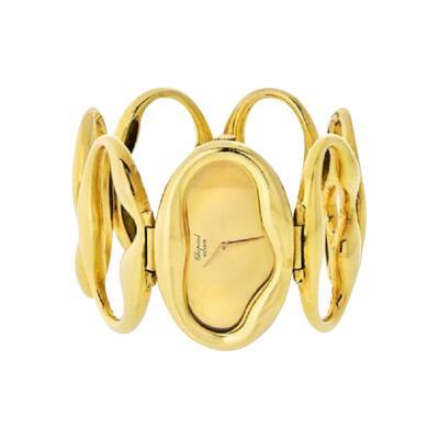 Chopard CHOPARD 1972 18K YELLOW GOLD OVAL LINK BRACELET WRIST WATCH