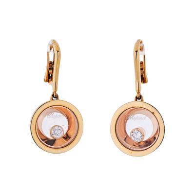 Chopard CHOPARD HAPPY DIAMONDS 18K ROSE GOLD EARRINGS