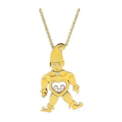 Chopard CHOPARD HAPPY DIAMONDS 18K YELLOW GOLD CLOWN PENDANT