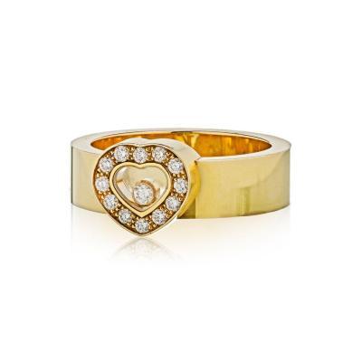 Chopard CHOPARD HAPPY DIAMONDS 18K YELLOW GOLD HEART FLOATING DIAMOND RING