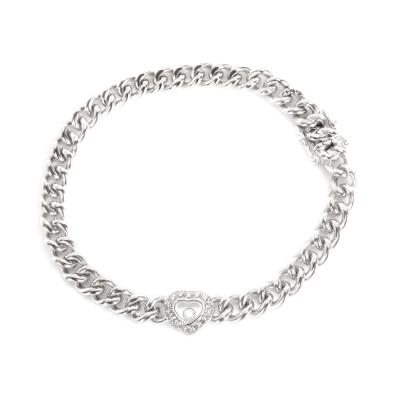 Chopard Chopard Happy Diamonds Curb Chain Heart Bracelet in 0 2 CTW