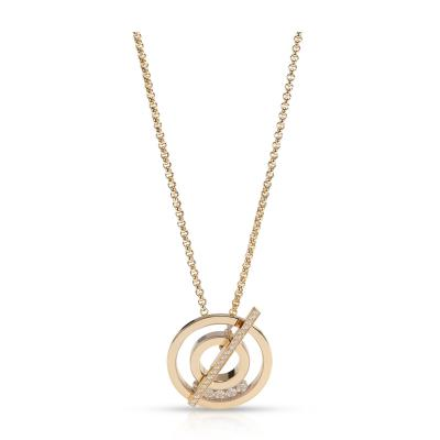 Chopard Chopard Happy Diamonds Necklace in 18K Yellow Gold 0 45 CTW
