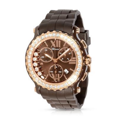 Chopard Chopard Happy Sport Chronograph 288515 9004 Unisex Watch in 18kt Rose Gold Ceram
