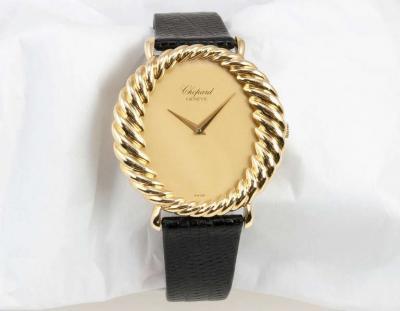 Chopard Chopard Ladys Yellow Gold Twisted Bezel Wristwatch Circa 1970s