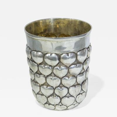 Christian Dior Goblet in silver with hearts made by Christian Dior circa 1980
