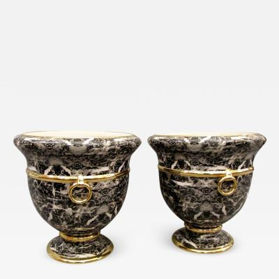 Christian Dior Pair of cache pots by Christian Dior Italy around 1980