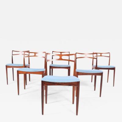 Christian Linneberg M belfabrik Model 94 Rosewood Dining Chairs by Johannes Andersen for Christian Linneberg
