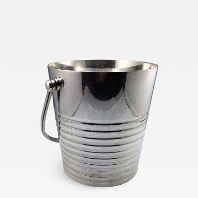 Christofle Christofle Luc Lanel Normandie Art Deco Ondulations Ice bucket