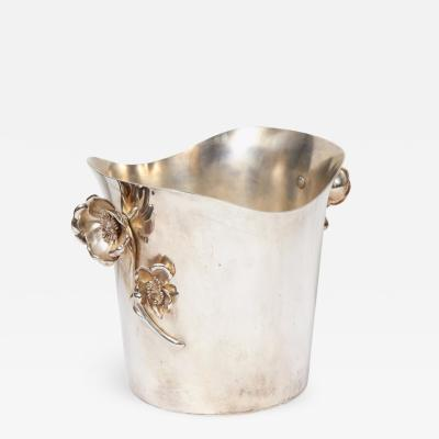 Christofle Christofle Paris Silver Plated Anemone Champagne Bucket Wine Cooler