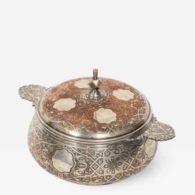 Christofle Christofle Paris an Unusual French Islamic Style Silvered Covered Dish