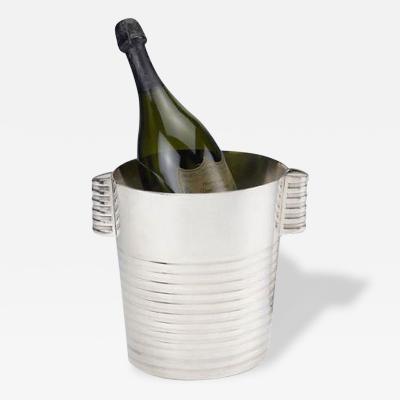 Christofle Luc Lanel Normandie Art Deco Champagne Bucket