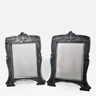 Christofle Rare Christofle Art Nouveau Pair of Photograph Frames C 1900