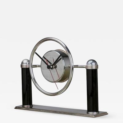 Christofle Silver Desk Clock by Christofle