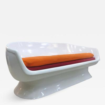 Chromcraft Chromcraft Space Age Enameled Fiberglass Shell Sofa circa 1960s