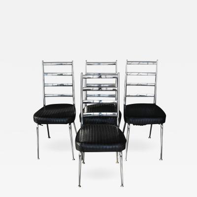 Chromcraft Set of Four Chromecraft Dining Chairs