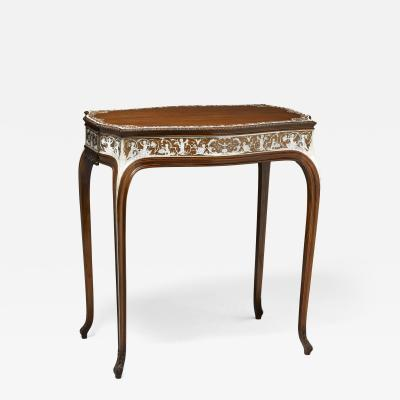 Collinson and Lock Finest Museum Standard Rosewood and Ivory Inlaid Occassional Center Table