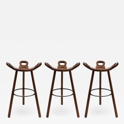 Confonorm Brutalist Marbella Bar Stools by Confonorm 1970