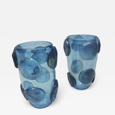 Constantini Murano Glass Pair of Mid Century Modern Costantini Murano Glass Italian Vases