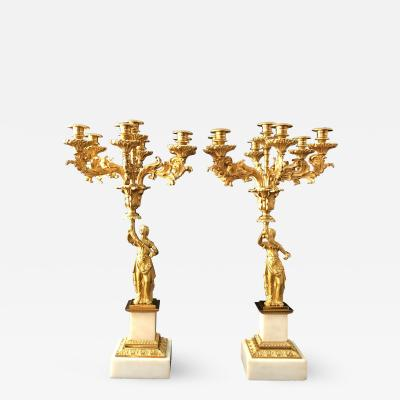 Cornelius and Company A Pair of Classical Candelabra