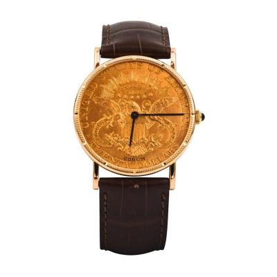 Corum Corum Yellow Gold Liberty 20 Coin Face Manual Wind Wristwatch
