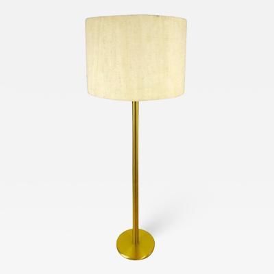 Cosack Leuchten German Brass and Cloth Floor Lamp from Cosack 1960s