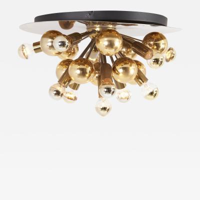 Cosack Leuchten Large Sputnik Space Age Flushmount or Wall Lamp in Brass