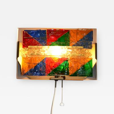 Cosack Unica Cosack Unica Wall lamp 60s fused glass